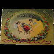 Cologne Advertising Card / cologne Trade Card / Cherubs Card / Angels Card / Ephemera / Vintage Advertising Card / Collectible Trade Card