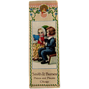 Bookmark Advertising Card / Vintage Trade Card / Collectible Advertising Card / Ephemera / Children Advertising Card