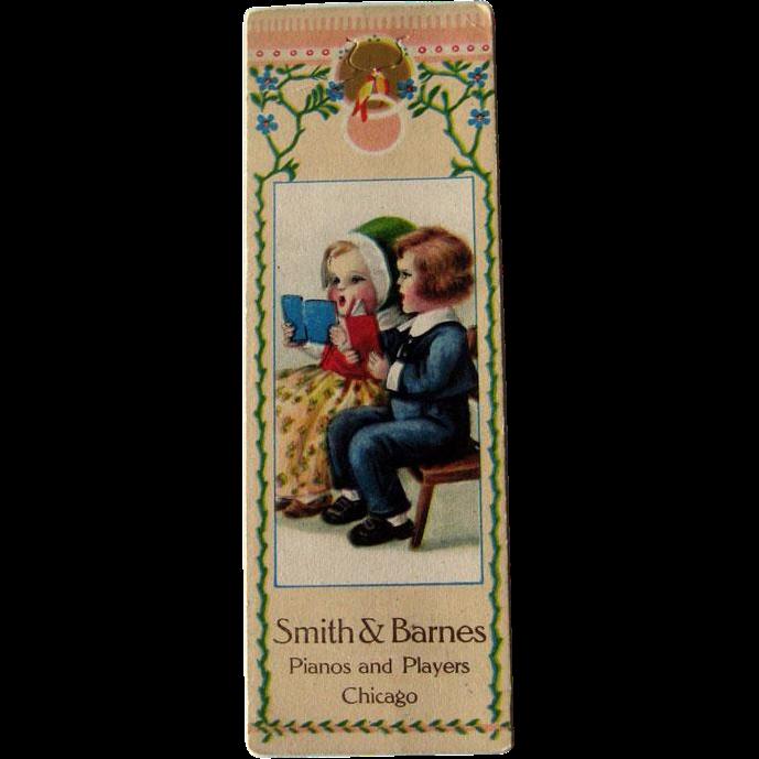 Bookmark Advertising Card / Vintage Trade Card / Collectible Advertising Card / Ephemera / Children Advertising Card