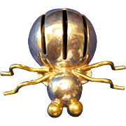 Taxco Mexico Sterling Silver Spider Pin