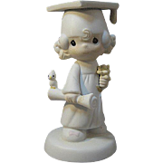 Girl Graduate Precious Moments Figurine Entitled: The Lord Bless You and Keep You / Collectible Figurine / Graduation Gift