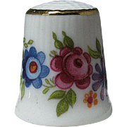 Selb Bavaria Porcelain Thimble Adorned with Flowers
