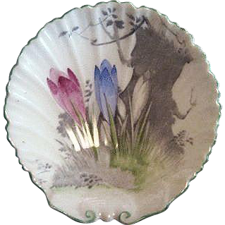 Shelley England Pin Dish Decorated with Crocus