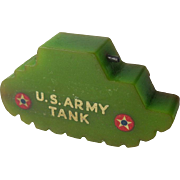 Bakelite Army Tank Pencil Sharpener / US Army Tank Sharpener / Keep 'em Rolling / Collectible Bakelite / Vintage Bakelite / Vintage Pencil Sharpener