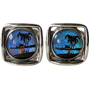 Butterfly Wing Cuff Links / Tropical Scene / Cufflinks / Mens Fashion / Womens Fashion