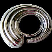Monet Scarf Clip / Silver-tone Scarf Clip / Womens Fashion / Vintage Jewelry
