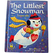 The Littlest  Snowman Wonder Book / Children's Illustrated Book / Bedtime Book