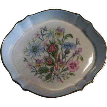 Ansley England Bone China Pin Dish / Vintage China