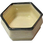 Lenox American Belleek Open Salt with Silver Trim / American Belleek / Open  Salt / Salt Cellar