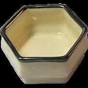 Lenox American Belleek Open Salt with Silver Trim / American Belleek / Open  Salt / Salt Cellar