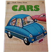 Cars Vintage Little Golden Story Book / Illustrated Childrens Book / Read Aloud Book