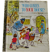 Who Comes to Your House Vintage Little Golden Book / Illustrated Childrens Book / Story Book / Bedtime Stories