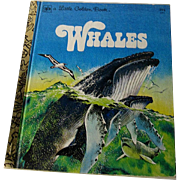 Whales Vintage Little Golden Book / Illustrated Childrens Book / Story Book / First Edition