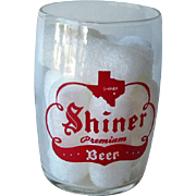 Shiner Barrel Beer Glass / Shorty 5 oz Beer Glass / Shiner Beer / Shiner Texas