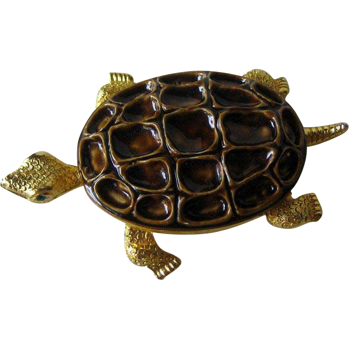 Mandle Turtle Pin / Large Turtle Pin / Designer Pin / Fashion Jewelry