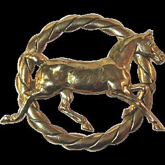Gold-tone Horse Pin Equestrian / Collectible Pin / Horse Pin