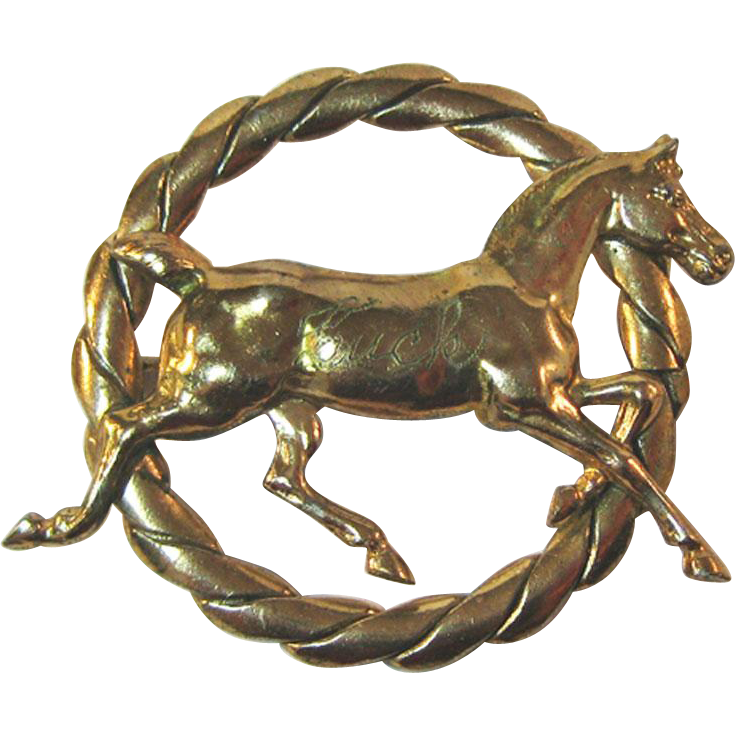 Gold-tone Horse Pin Equestrian / Collectible Pin / Horse Pin