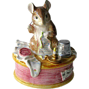 Music Box Beatrix Potter Mouse Sewing / Brahms Lullaby / Enesco / Border Fine Arts Studio