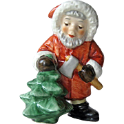 Vintage Goebel Santa Cutting Down the Tree / Goebel West Germany / Christmas Decor / Goebel Collectible