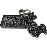 Vintage Massachusetts Sterling State Charm / Sterling Silver Charm