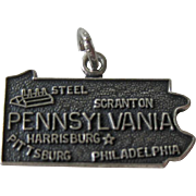 Vintage Pennsylvania Sterling State Charm / Sterling Silver Charm