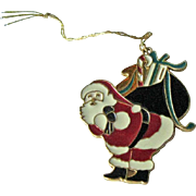 Wallace Silversmiths Santa Pendant Ornament / Christmas Ornament / Holiday Decor / Christmas Decor