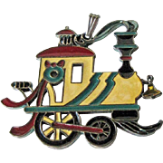 Wallace Silversmiths Train Pendant Ornament / Christmas Ornament / Holiday Decor / Christmas Decor