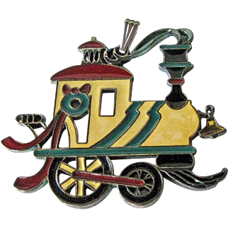 Wallace Silversmiths Train Pendant Ornament / Christmas Ornament / Holiday Decor / Christmas Decor
