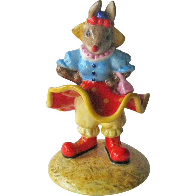 Clarissa the Clown Bunnykins / Royal Doulton Bunnykins / Royal Doulton DB331 / Collectible Figurine