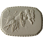 Lenox Porcelain Box with Cherub / Lenox Heritage Collection / Lenox Box / Box Adorned with Angel and Flowers / Collectible Box