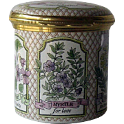 Halcyon Days Enamel Rosemary for Remembrance Trinket Dresser Box