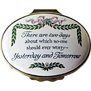 Halcyon Days Enamel Box / Hand Painted Box / Trinket Dresser Box