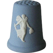 Wedgwood Blue Jasper Thimble / Collectible Thimble / Sewing Item