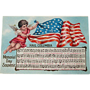 Memorial Day Postcard / Memorial Day Souvnir / Memorial Day Song / Hail Columbia