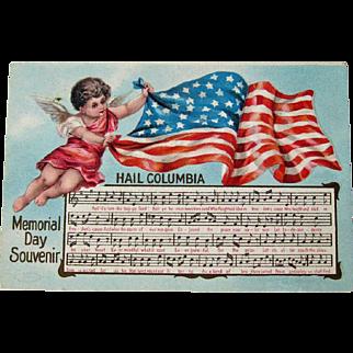 Memorial Day Postcard / Memorial Day Souvnir / Memorial Day Song / Hail Columbia