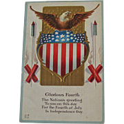 Fourth of July Postcard / Patriotic Postcard / Collectible Postcard
