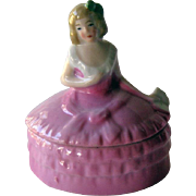 Petite German Lady Powder Box / Trinket Box / Vintage German Porcelain