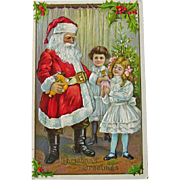 Santa nd Children Postcard - Santa and Toys Postcard - Sample Postcard - Christmas Postcard