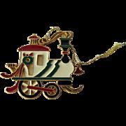 Train Pendant Ornament - Wallace Silversmiths - Christmas Ornament - Holiday Decor - Christmas Decor