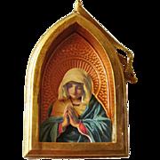 Hallmark Praying Madonna Showcase Ornament / Three Dimensional Ornament / Christmas Ornament / Religious Ornament / Vintage Ornament