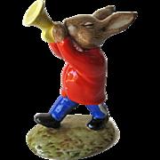 Royal Doulton Trumpeter Bunnykins / Bunnykins Figurine DB24 / Oompah Band / Porcelain Bunny Figure