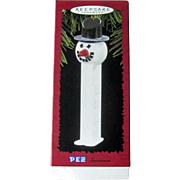 Vintage Hallmark  Snowman - Hallmark Ornament 1996  - Vintage PEZ  Ornament -  Vintage Snowman - Holiday Decor