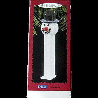 Vintage Hallmark  Snowman - Hallmark Ornament 1996  - Vintage PEZ  Ornament -  Vintage Snowman - Holiday Decor