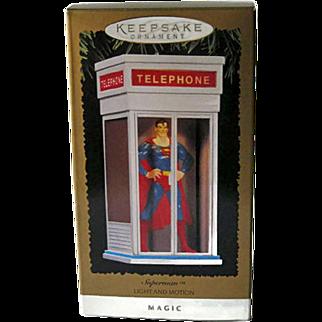 Hallmark Superman Light and Motion Ornament / Superman Ornament / Magic Ornament / VIntage Hallmark Ornament / Christmas Decor