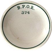 Elks Butter Pat - BPOE Lodge 374 - Fort Madison Iowa Lodge - Collectible Butter Dish - Vintage Butter Pat - Gift for Him