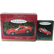 1997 Corvette Hallmark Ornaments Americas Sports Car