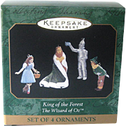 King of the Forest Wizard of Oz Hallmark Miniature Ornaments