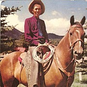 American West Postcard of Ranch Foreman from the Old School