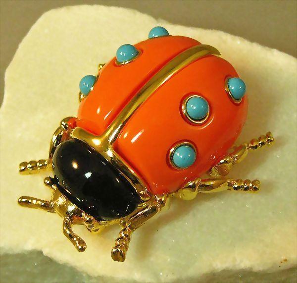 Kenneth J. Lane Ladybug Pin Brooch