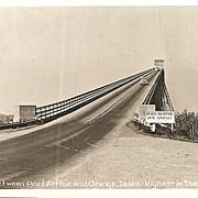 Real Photo Postcard of Bridge Between Port Arthur and Orange, Texas
